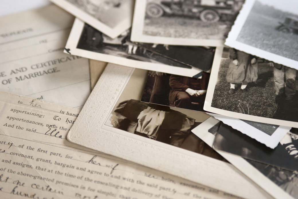 genealogy records and photo you already have